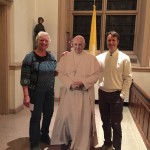 Dan and Lucy with Pope